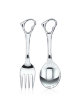 Children's table silver set, spoon and fork - Children's table silver set, spoon and fork