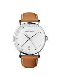 Watch with brown strap