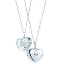 Pendant silver Heart Cupid